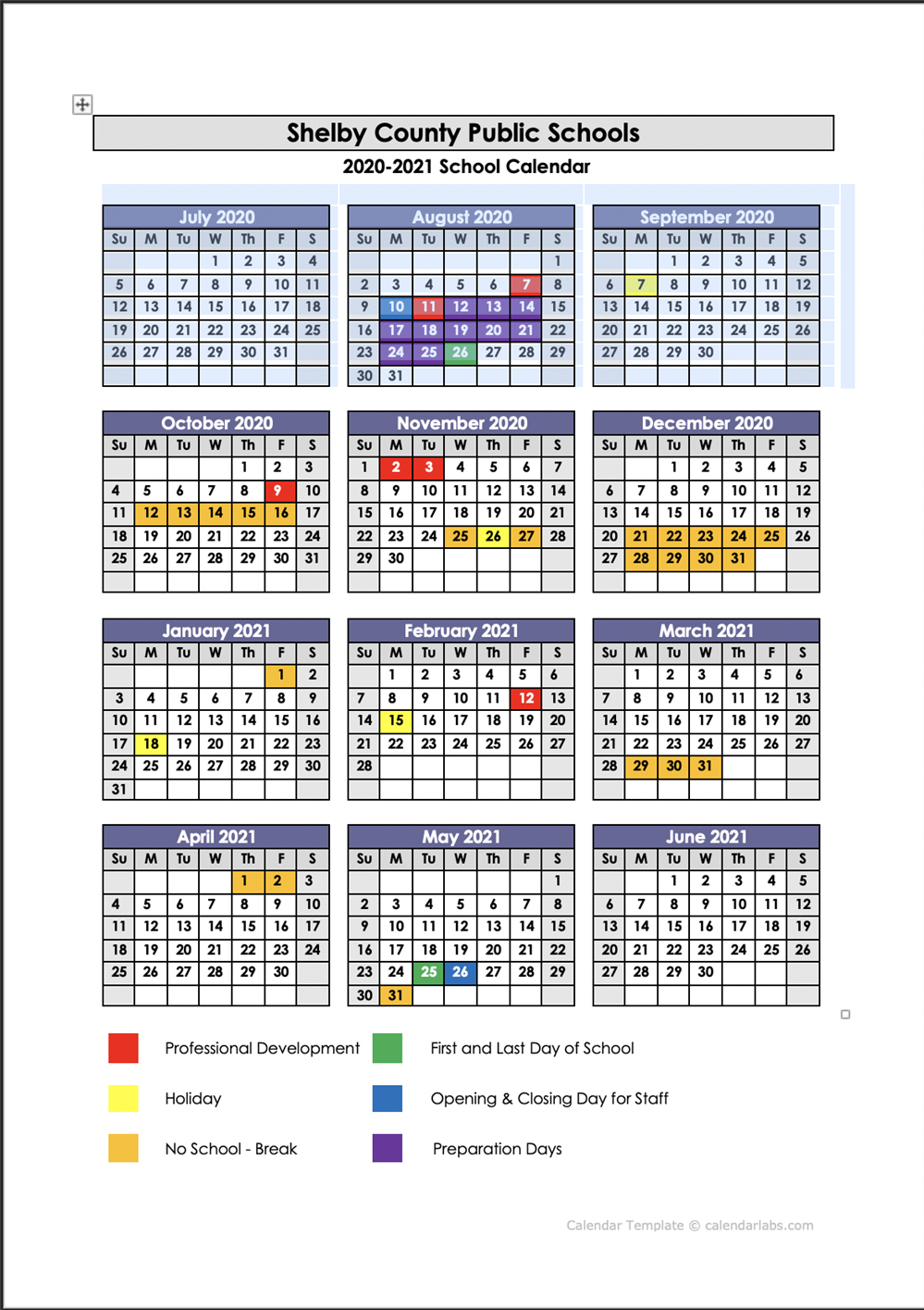 School Year Calendars / 2020 - 2021 School Calendar For West Bloomfield School Calendar 2021  2020