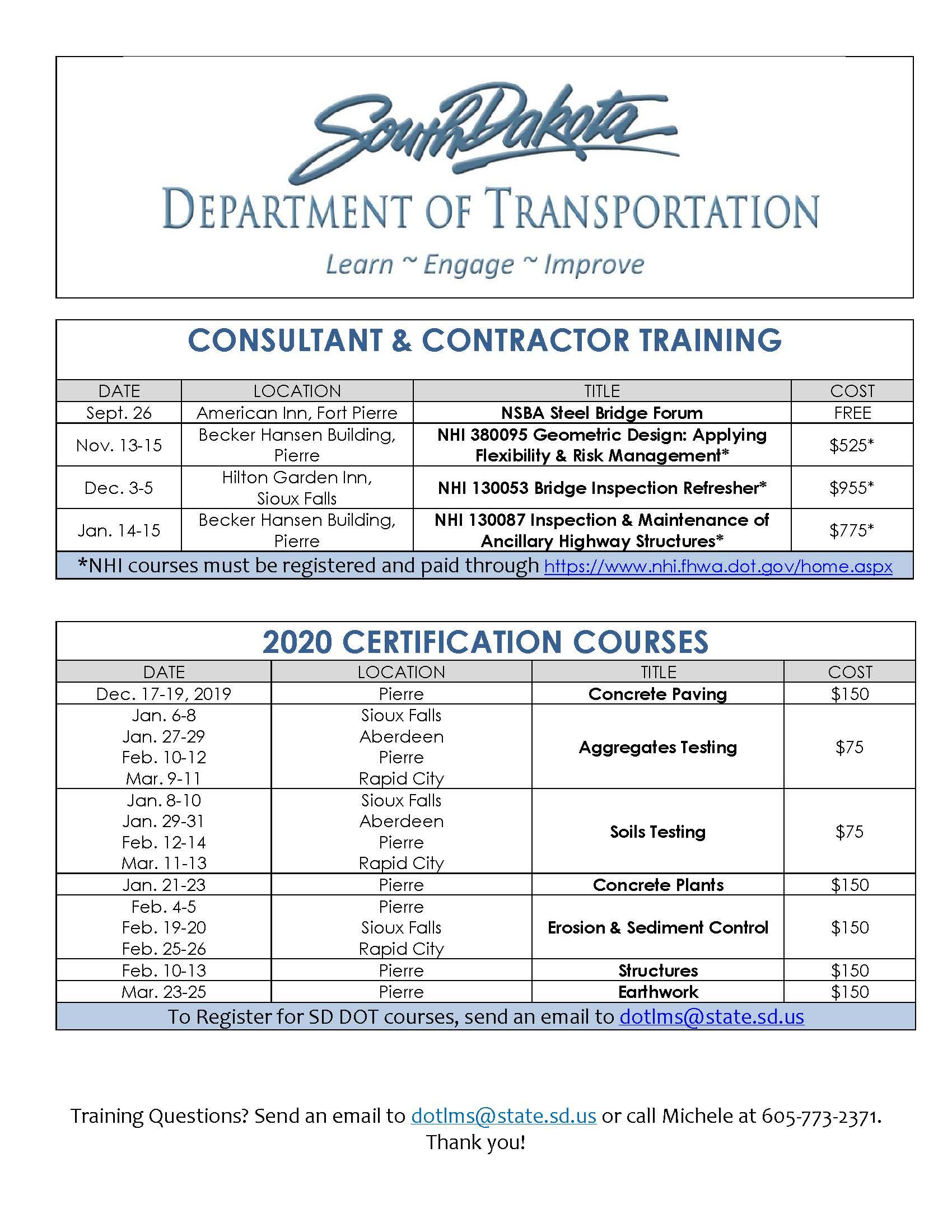 Sd Local Transportation Assistance Program | South Dakota For University Of South Dakota School Calendar