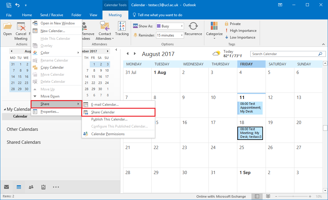 Share Your Calendar In Outlook 2016 For Windows Pertaining To Create Shared Calendar In Outlook 2021