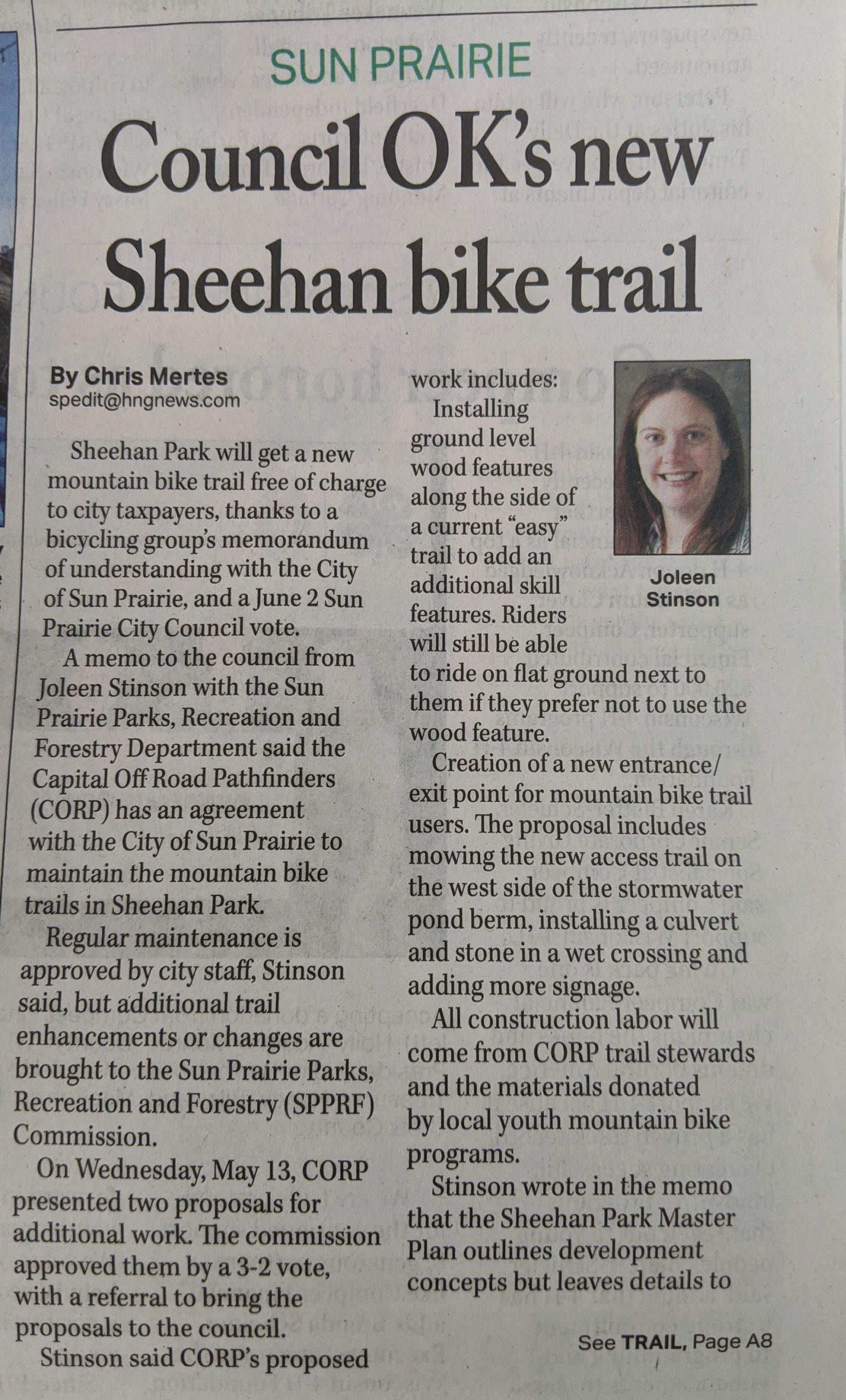 Sheehan Park Trails Supportedcity Council Throughout Sun Prairie School District Calendar