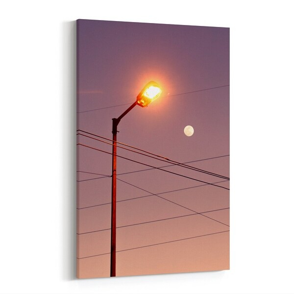 Shop Moon Sunrise Sunset Sunset Photography Canvas Wall For Yearly Sunrise And Sunset Times By Zip Code
