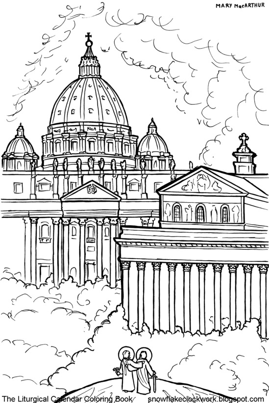 Snowflake Clockwork: Holy Family Coloring Page, December In Roman Catholic Calendar With Saints Days To Print Out