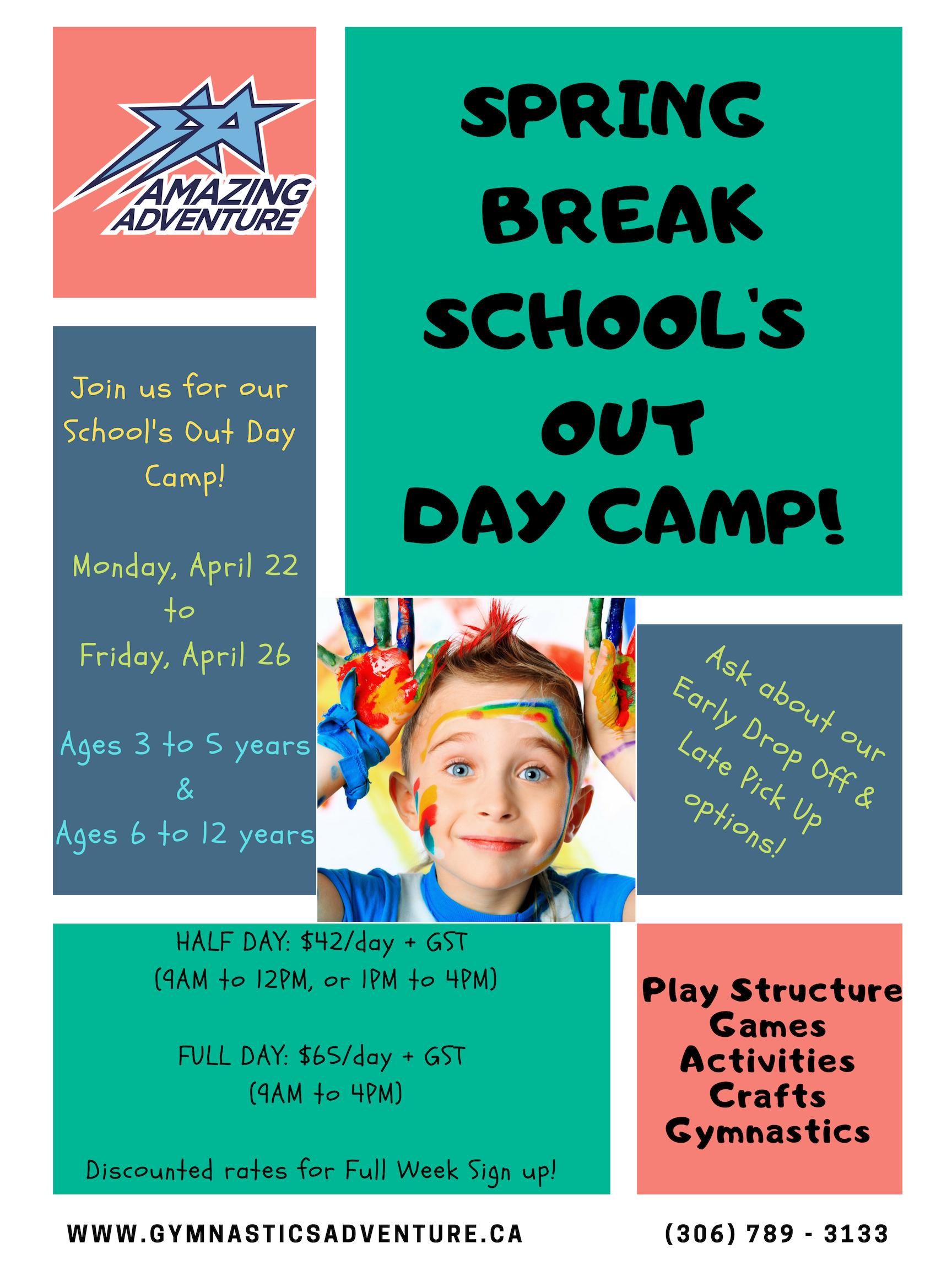 Spring Break Schools Out Daycamp   Amazing Adventure Inside Spring Break For Nooristown School
