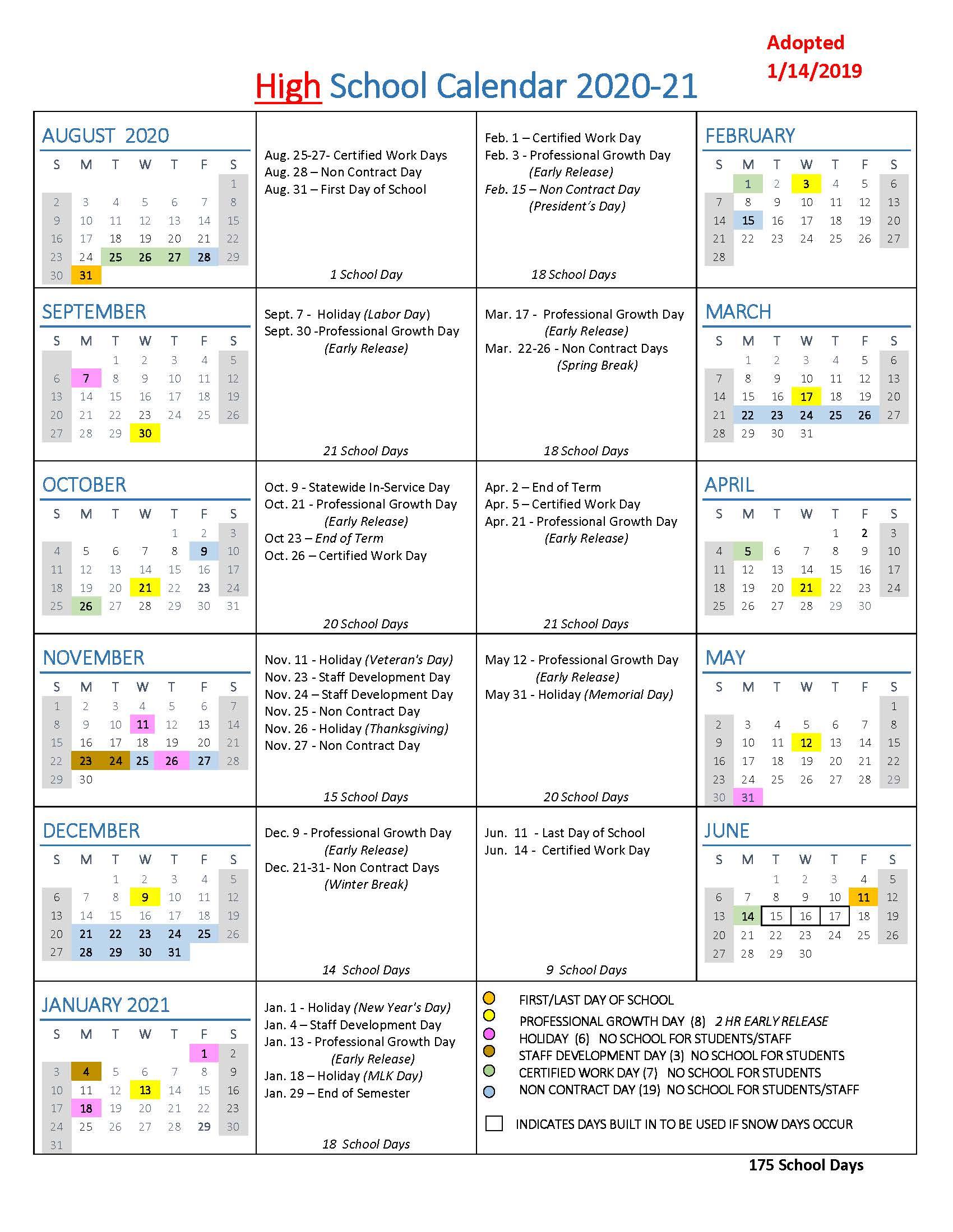 Stafford County Public Schools Calendar 2020 2021 | Free For Jersey City Public School Calendar 2021 2020