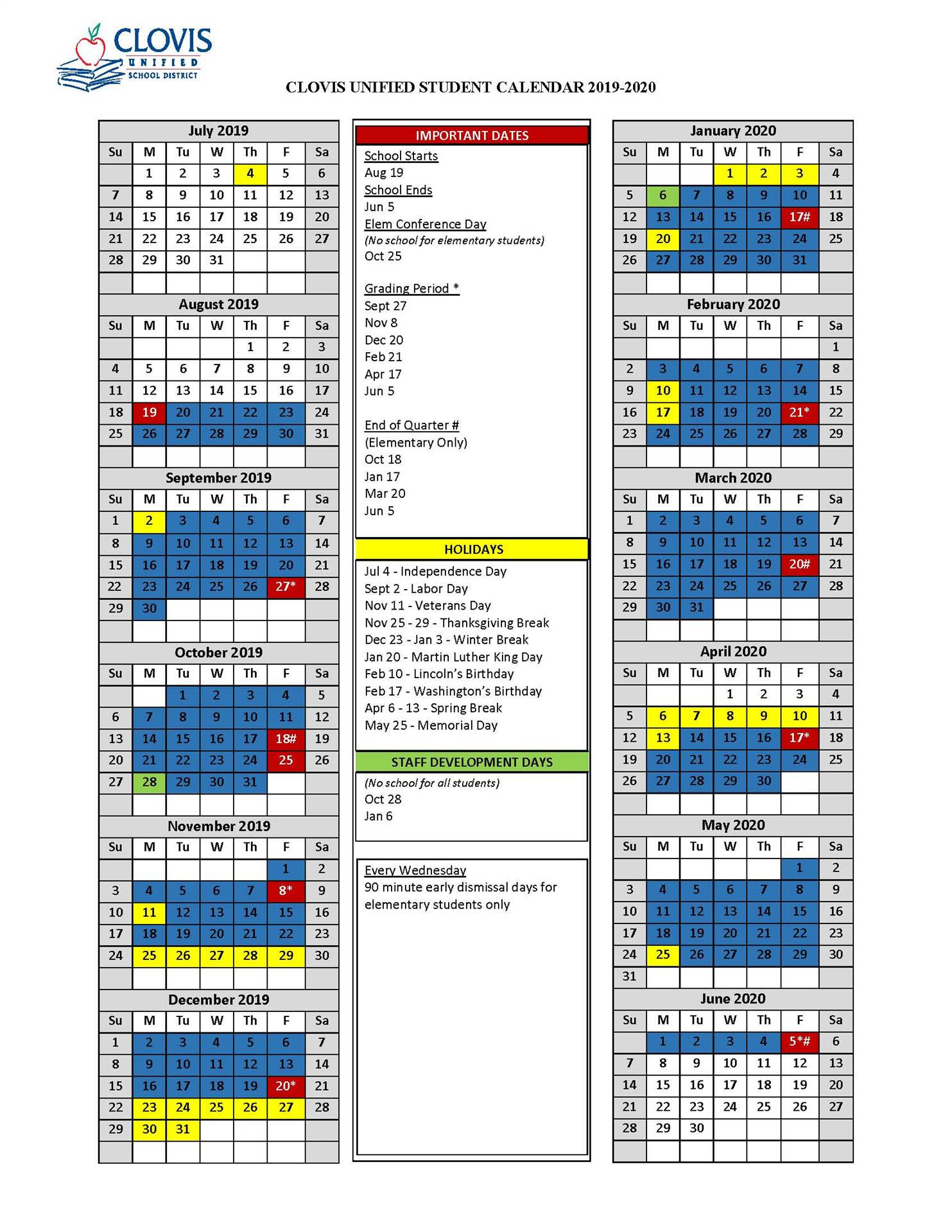 Student Calendar pertaining to Colorado Springs District 20 2021 20 School Calendar