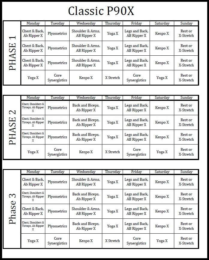 Supreme 90 Day Workout Schedule Pdf | Eoua Blog Throughout Supreme 90 Day Workout Schedule