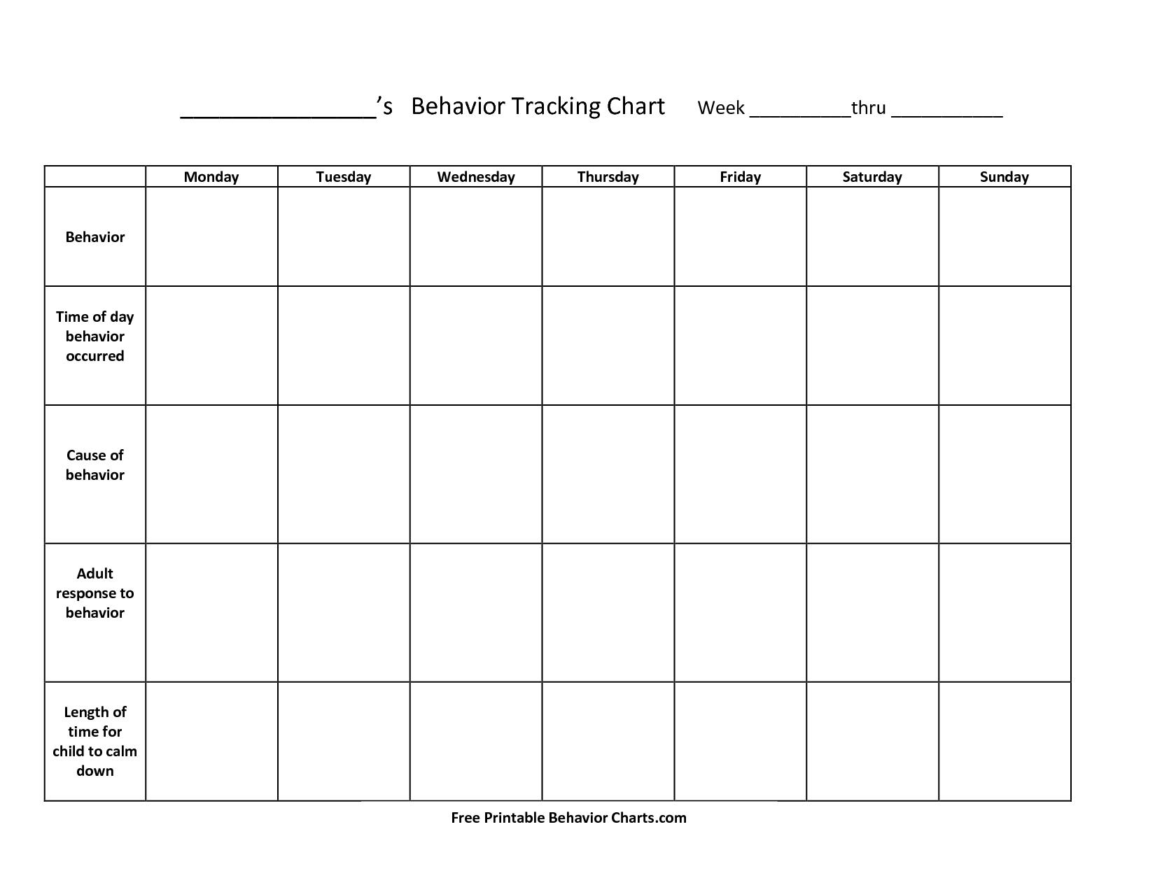 Take Blank Behavior Charts For September ⋆ The Best Intended For Things To Do In Atlanta Monthly Calendar