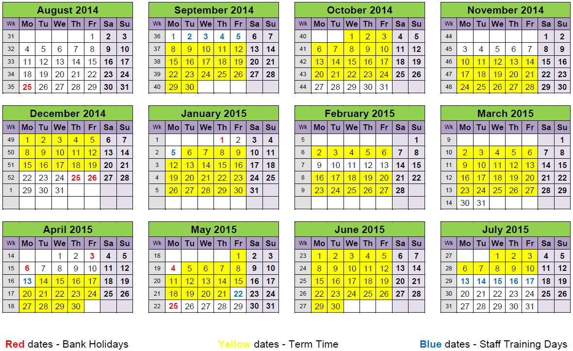 Term Dates 2014/15 – Transition2 For Gcu 2014 Academic Calendar