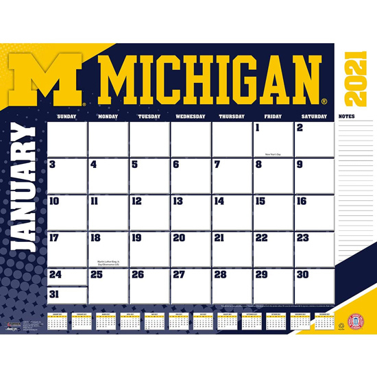 Tf Publishing University Of Michigan 2019 Desk Calendar Regarding Michigan State University Academic Calendar