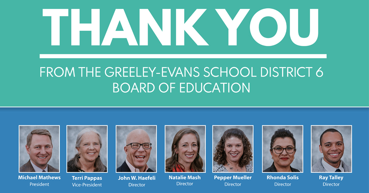 Thank You From The Greeley Evans District 6 Board Of Education In Franklin Central High School Calendar 2020