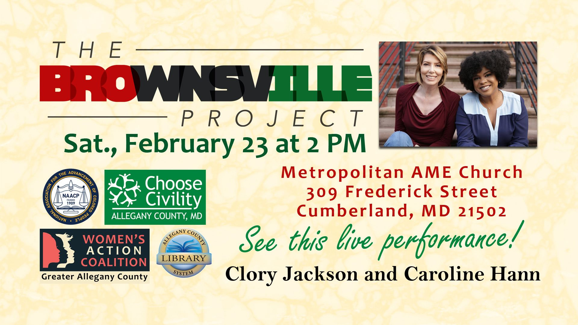The Brownsville Project Will Return To Allegany County On for Frostburg School Calendar