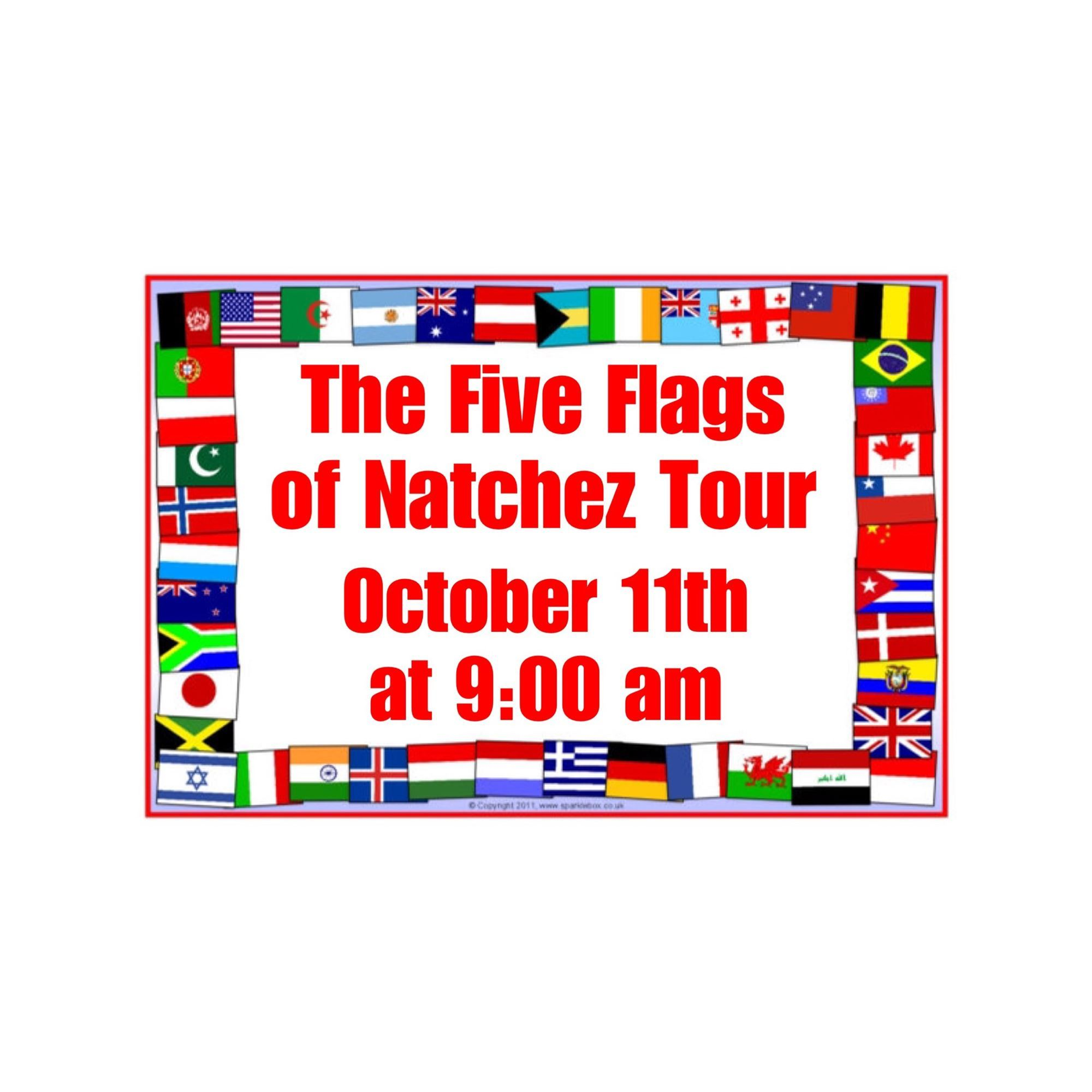 The Five Flags Of Natchez Tour Within Natchez Mississippi Calendar Of Events