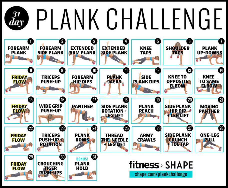 The Ultimate 30 Day Plank Challenge For Your Strongest With 30 Days Abs Challenge Calendar