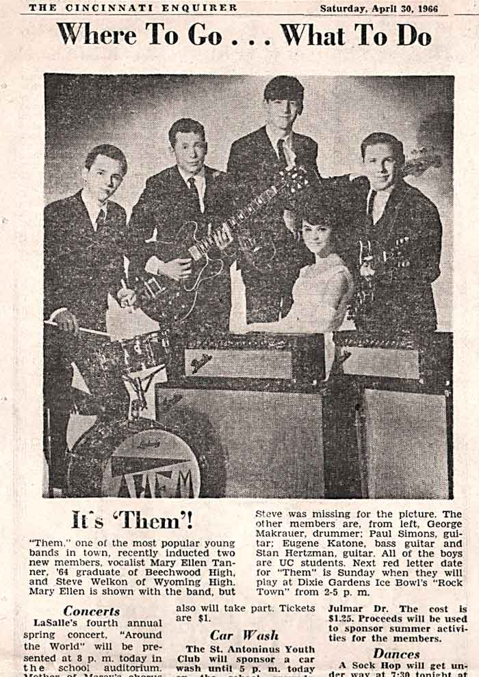 "Them - The Original Torquays - ""The Band That Started in Walnut Hills High School Spring Break"