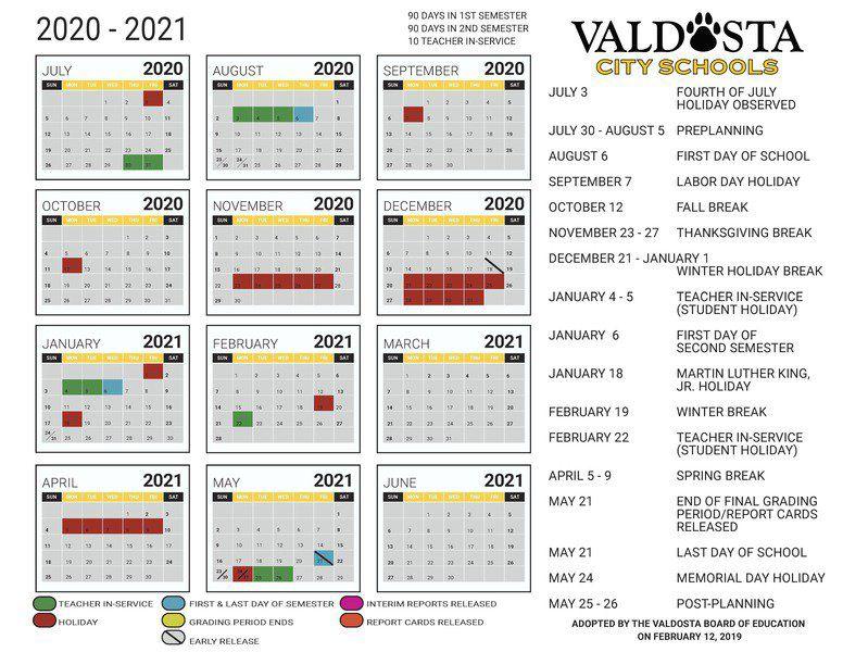 Troup County Schools Calendar 2020 21 | Calendar 2020 Pertaining To 2021 Marion County Florida Spring Break