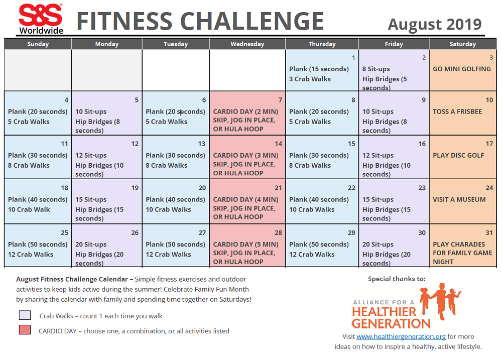 Ultimate Workout & Recovery System For Adapted Pe - S&S Blog Regarding 30 Day Fitness Calendar Printable