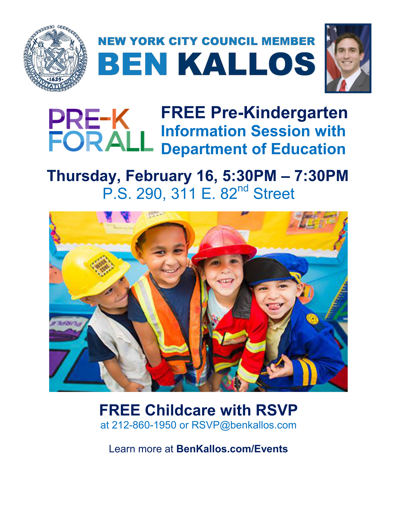 Universal Pre Kindergarten Information Session (Free Within Nyc School Calendar 2015 16