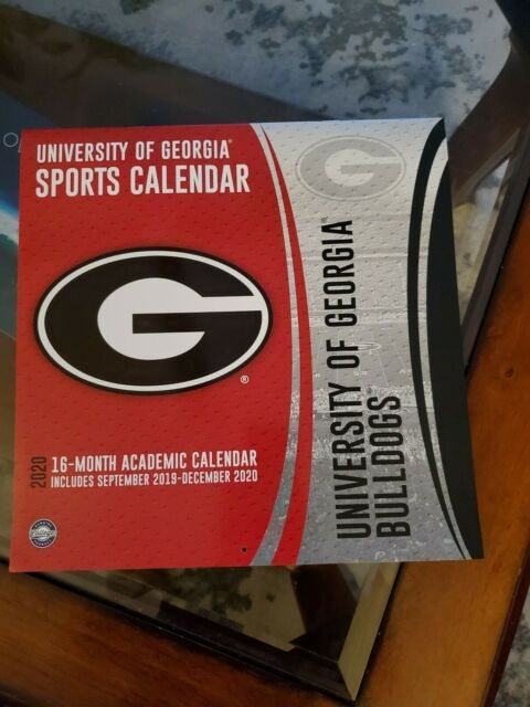 University Of Georgia Football Calendar 2020 | Ebay Pertaining To Georgia State University Calendar