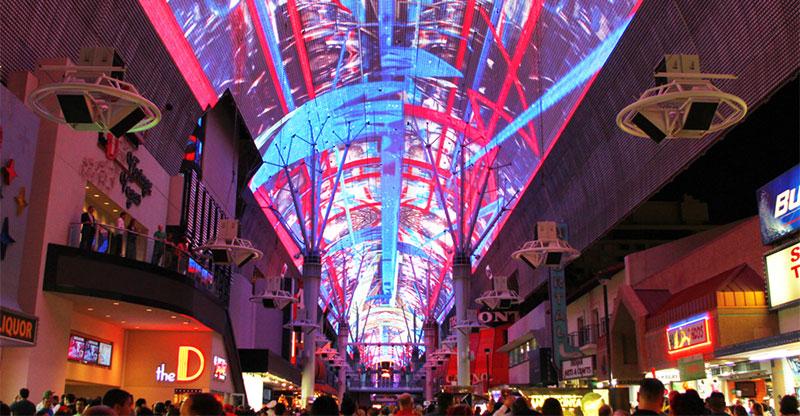 Viva Vision Light Show | Fremont Street Experience Intended For Live Music Calender Las Vegas