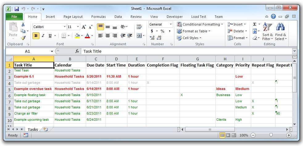 Vueminder Pro And Ultimate Help – Export Tasks Throughout Convert Excel Sheet To Calendar