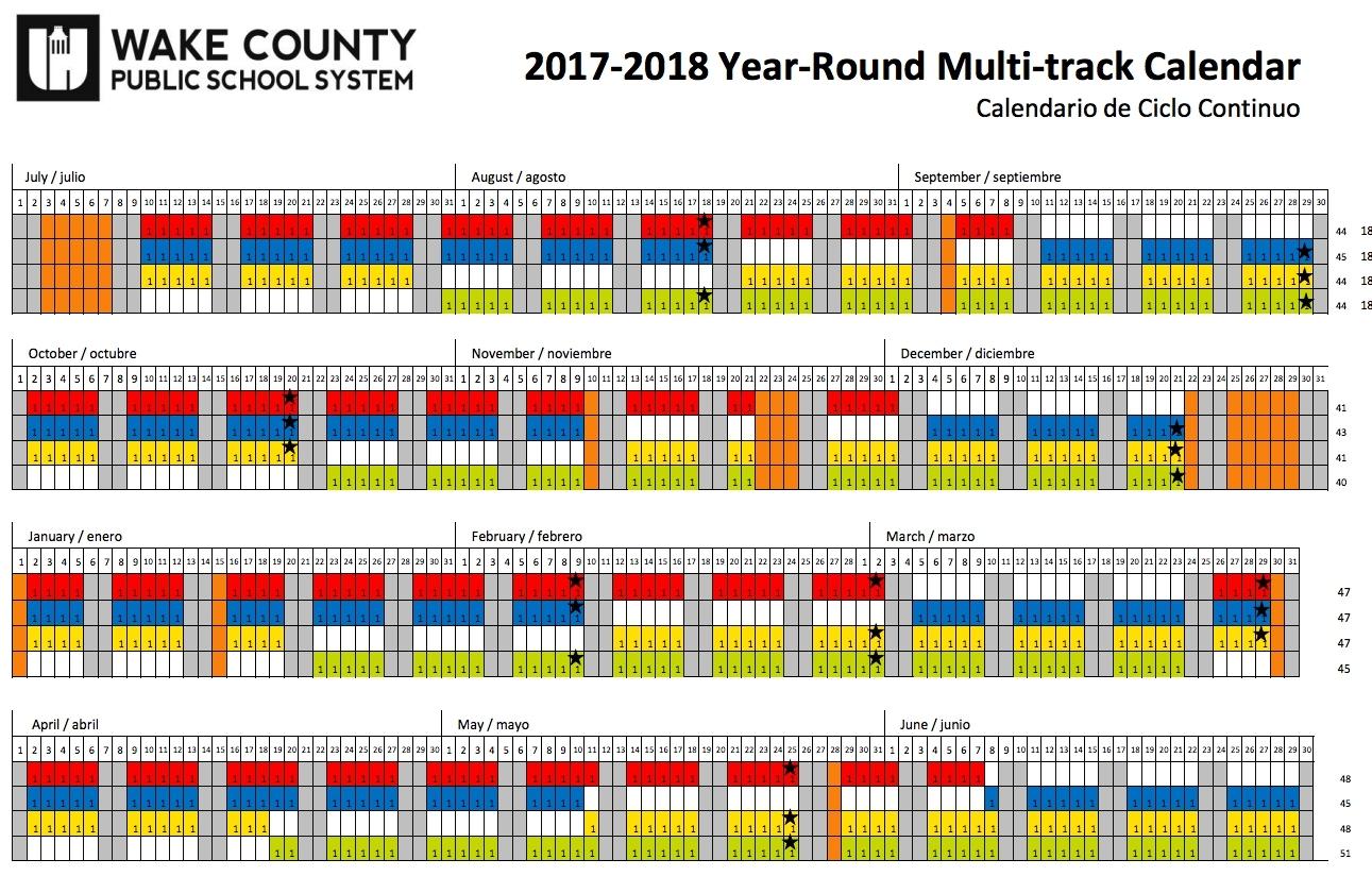 Wake County School Calendar 2018 18 Year Round | Qualads Pertaining To Wake County School District Calenders