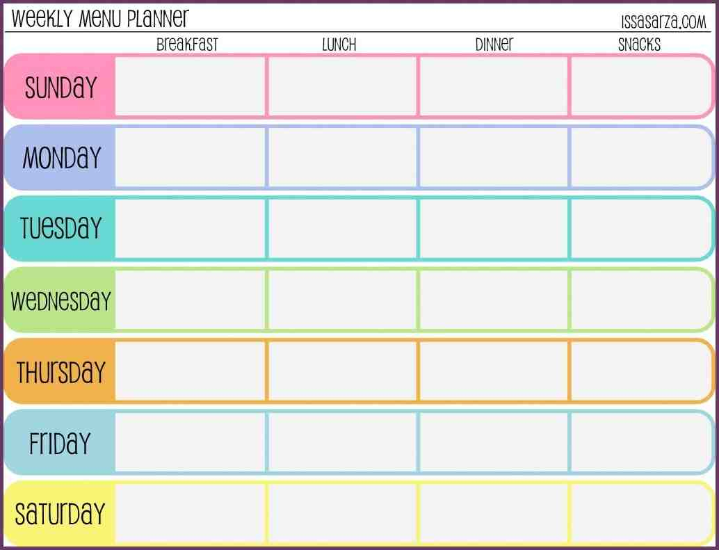 Weekly Training Schedule Template – Printable Schedule Inside Sample Year Round School Calendar