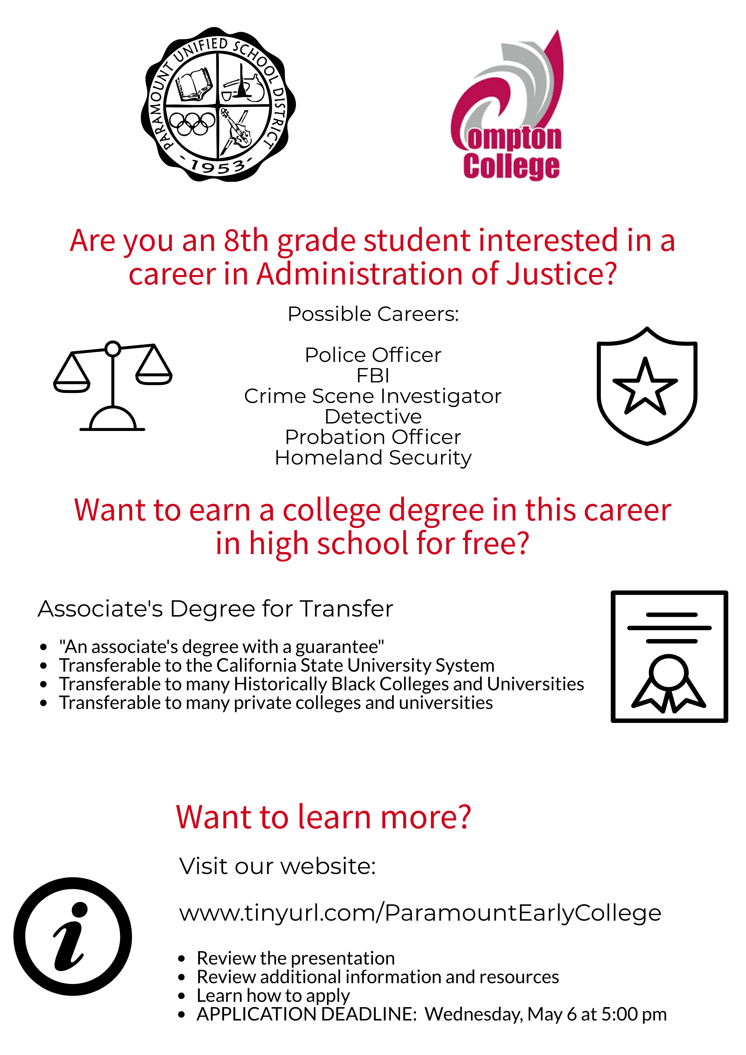 Welcome! – Phs Administration Of Justice Early College Regarding Paramount Unified School District Academic Calendar 2020