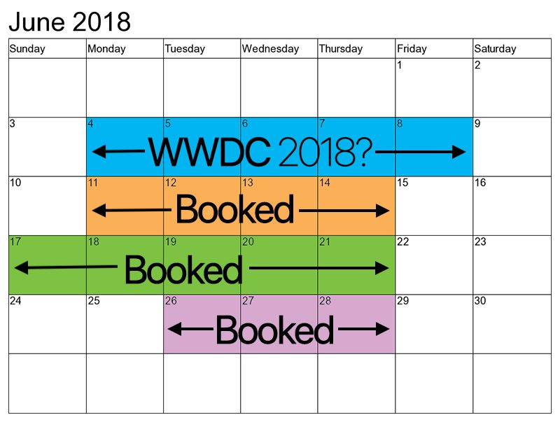 Wwdc 2018 Dates Possibly June 4 8 At San Jose Convention For San Jose Convention Center Callendar