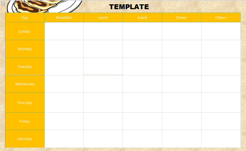 10+ 21 Day Fix Meal Plan Template   Template Business Psd Pertaining To Word Of The Day Template