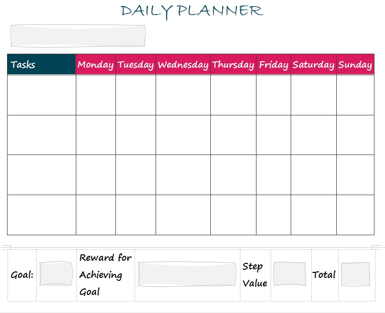 5+ 100 Day Planning Template | Template Business Psd for Word Of The Day Template