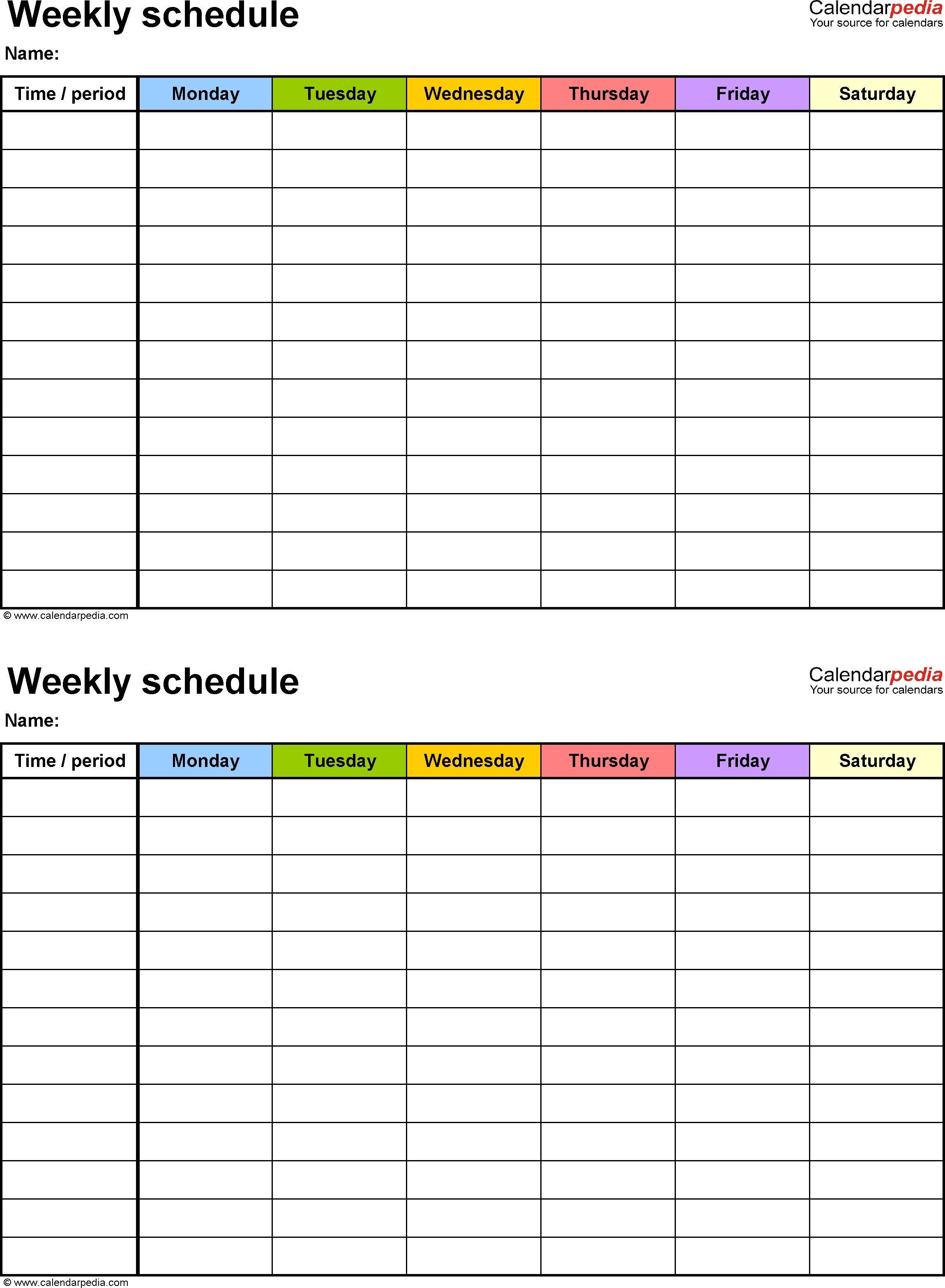 7 Day Calendar Template Printable – Calendar Inspiration Regarding Word Of The Day Template