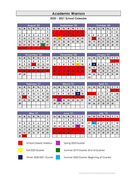Academic Warriors School Calendar With Regard To Academic Calendar For Delaware State