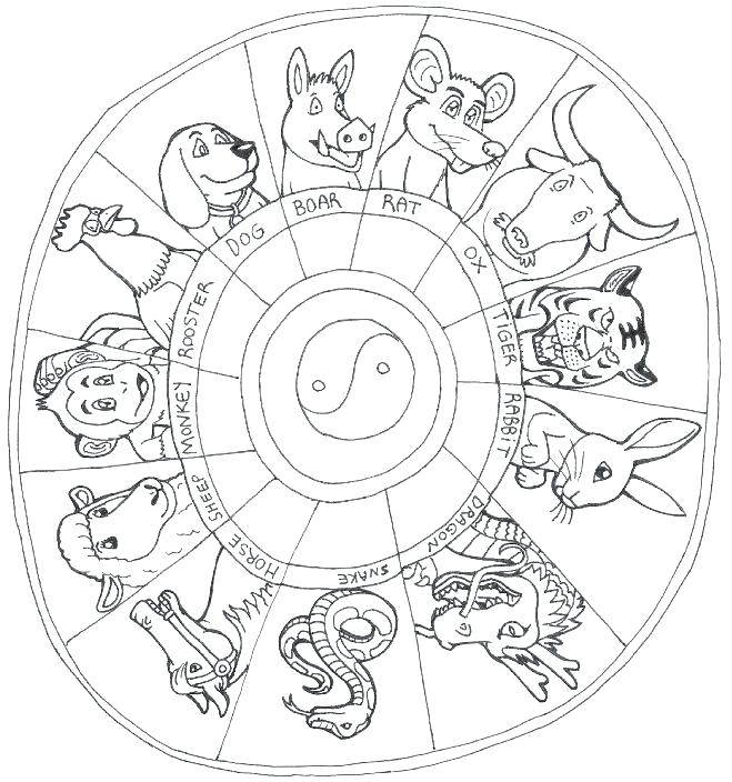 Chinese Zodiac Coloring Pages At Getcolorings | Free Regarding Free Printable Chinese Zodiac