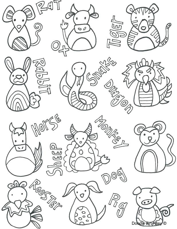 Chinese Zodiac Coloring Pages At Getcolorings | Free Within Free Printable Chinese Zodiac