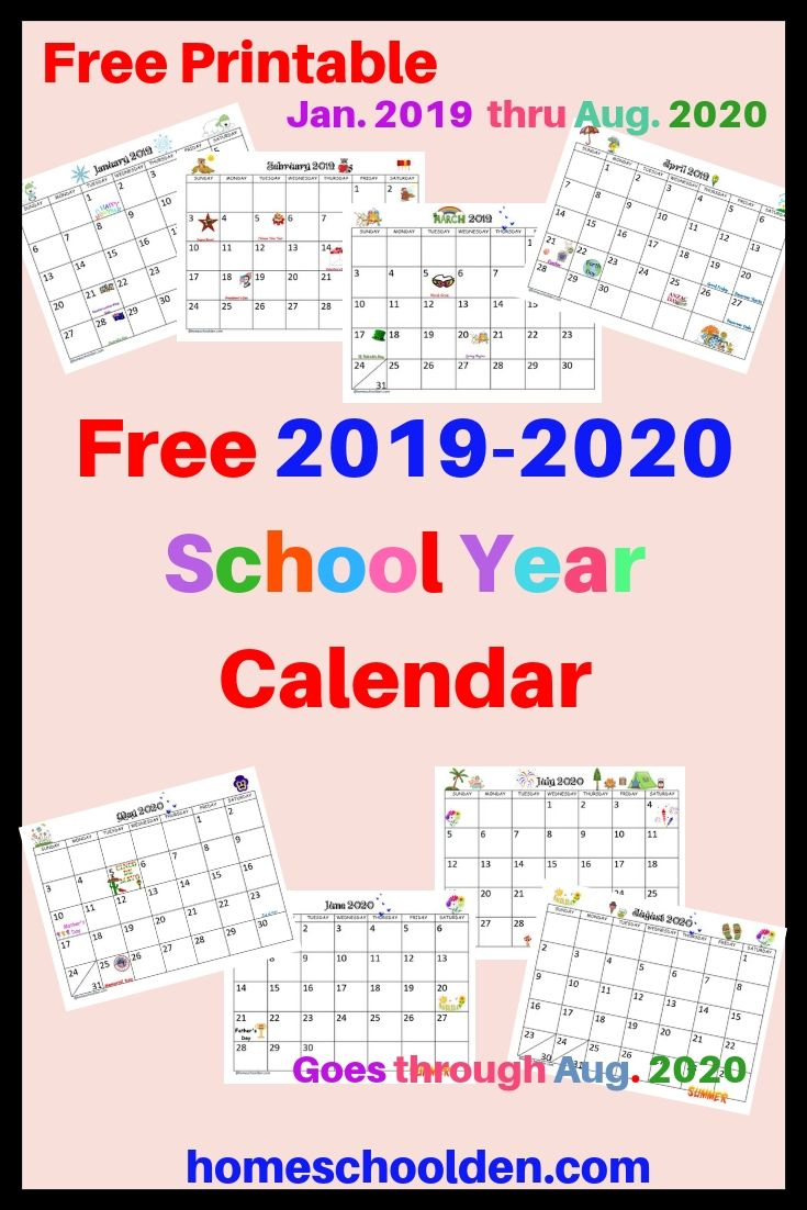 Free Printable 2020 Attendance Calendar | Example Calendar Intended For Year Round School Calendar Sample