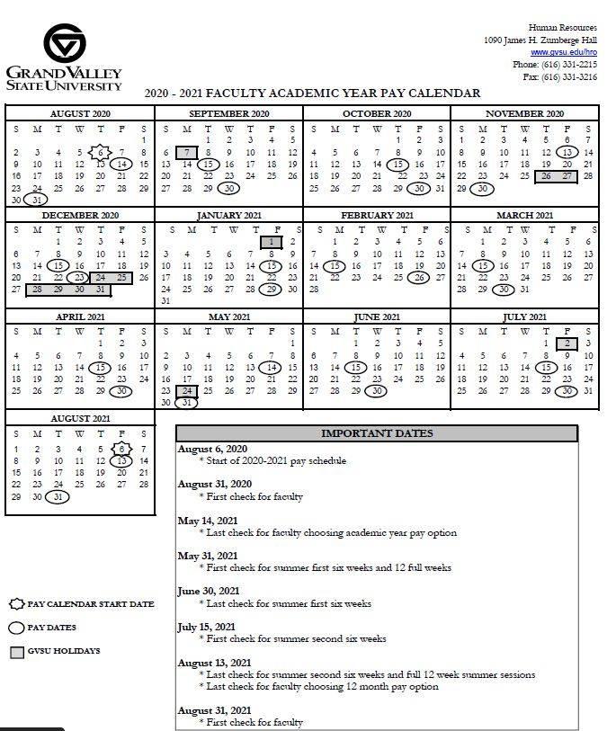 Gvsu Academic Calendar 2021 22 | Calendar 2021 Within Grand Canyon University Calendar 2021 2020