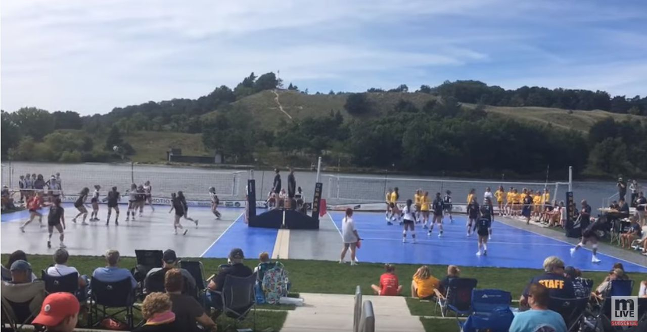High School Volleyball Shines Outdoors On Grand Haven For When Does Grand Haven School Start
