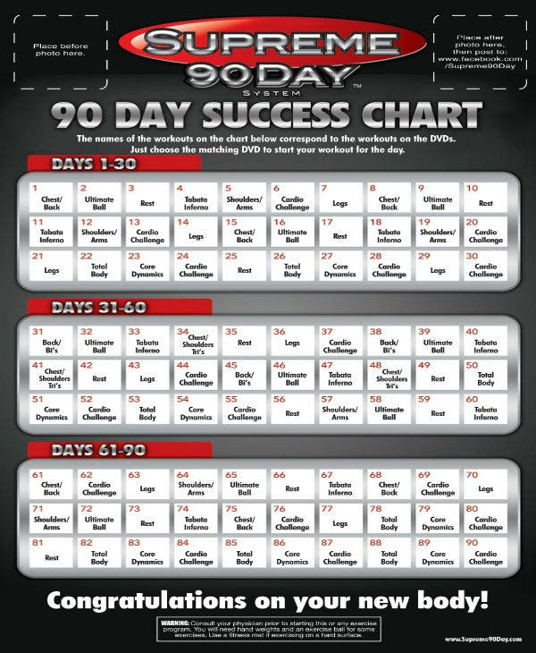 How Long Are The Supreme 90 Day Workouts   Kayaworkout.co Regarding Tom Holland 90 Day Supreme Workout Schedule