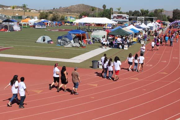 Hundreds Camp Out, Run Laps In Relay For Life Menifee Regarding Paloma Valley High School Menifee Holidays