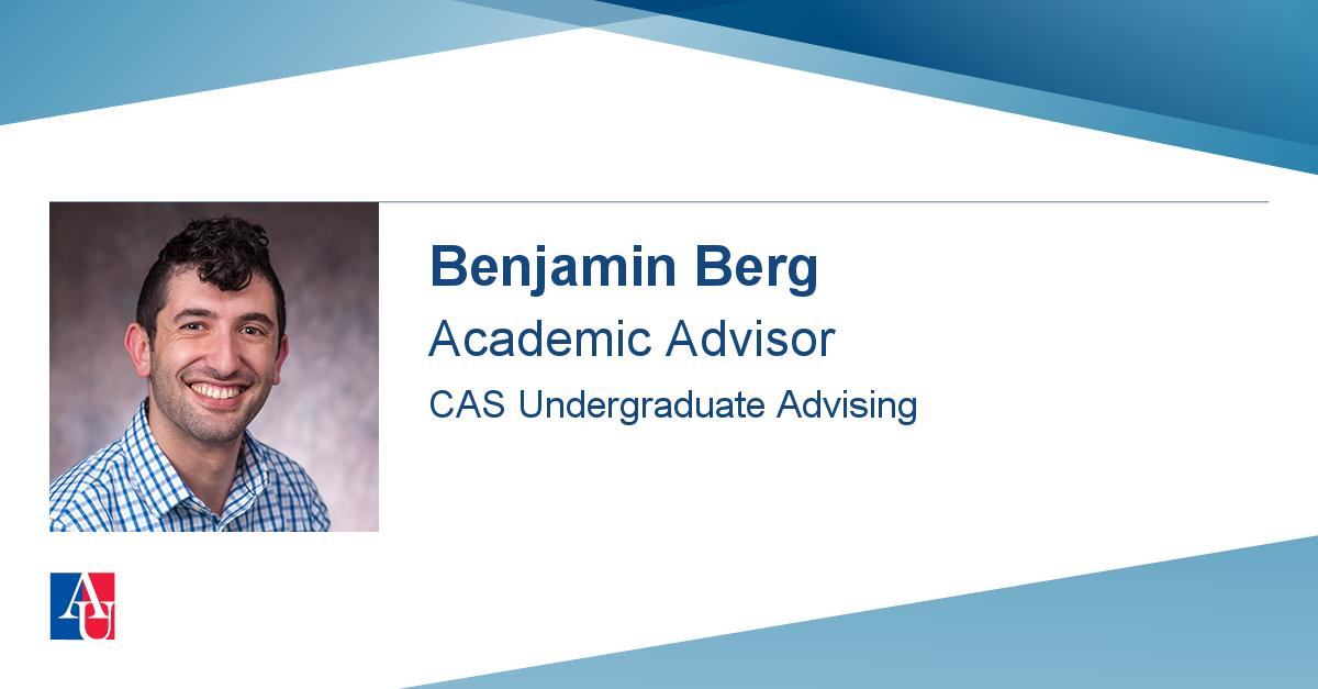 Staff Profile: Benjamin Berg   American University Regarding Franklin And Marshall Academic Schedule