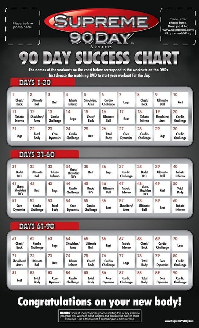 The Supreme 90 Free Free P90X Alternative With for Tom Holland 90 Day Supreme Workout Schedule