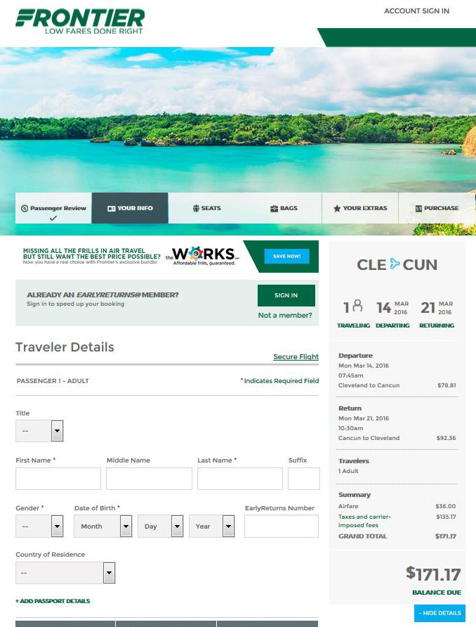$182 $237    Cancun From Cleveland & Chicago (R/T) | Fly Regarding Frontier Airlines Deals Calendar