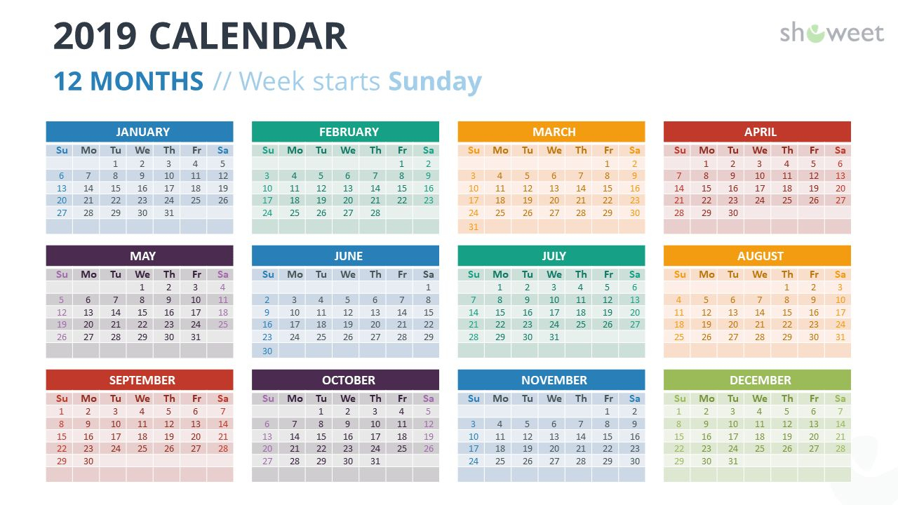 2019 Calendar Powerpoint Templates Intended For Microsoft Intended For Free Calendars Georgia Website