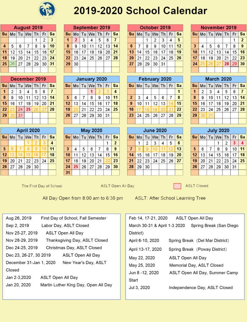 2020  2021 Calendar - About - Chula Vista Learning Intended For Aiken County School District Calendar 2020 2021