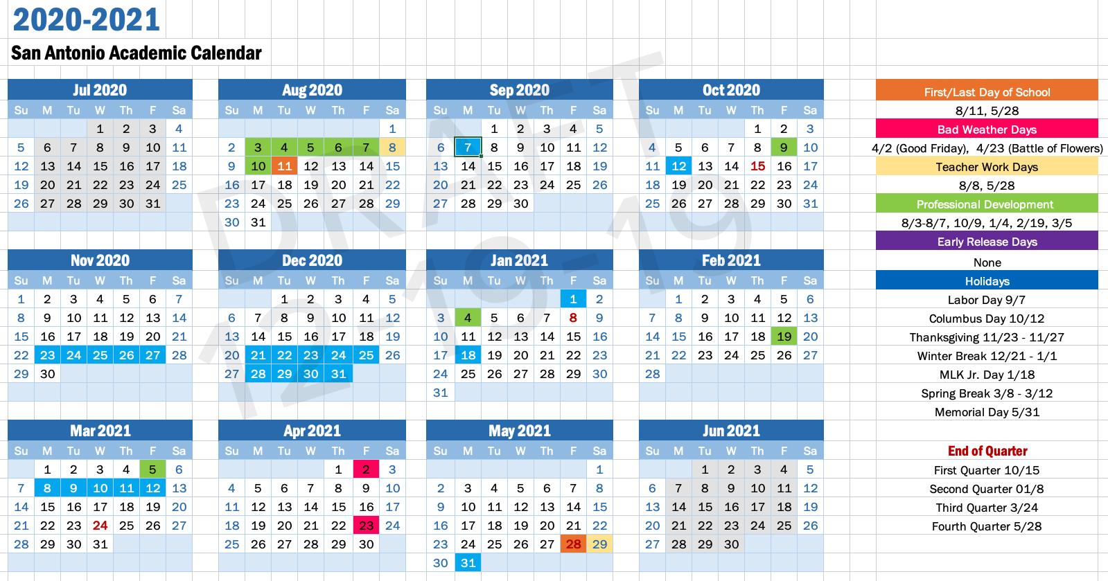 2020  2021 Calendar – About – Chula Vista Learning Regarding Aiken County School District Calendar 2020 2021
