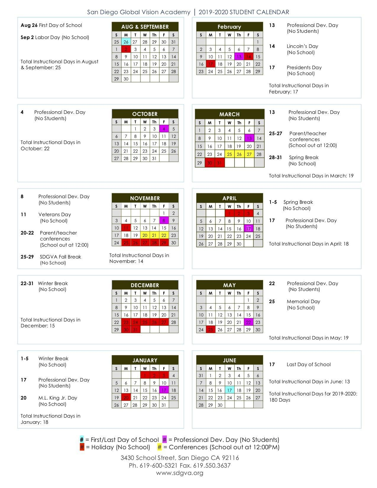 2020  2021 Calendar - About - Chula Vista Learning With Regard To Aiken County Public School Calendar 2020 2021