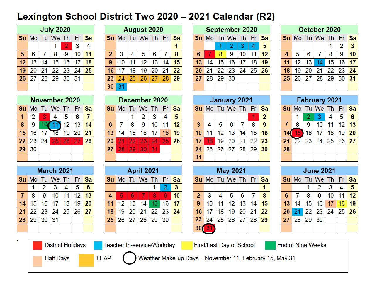 2020 – 2021 Calendar – Calendar – Lexington School With Wilkes Barre Area School District Calander 2021