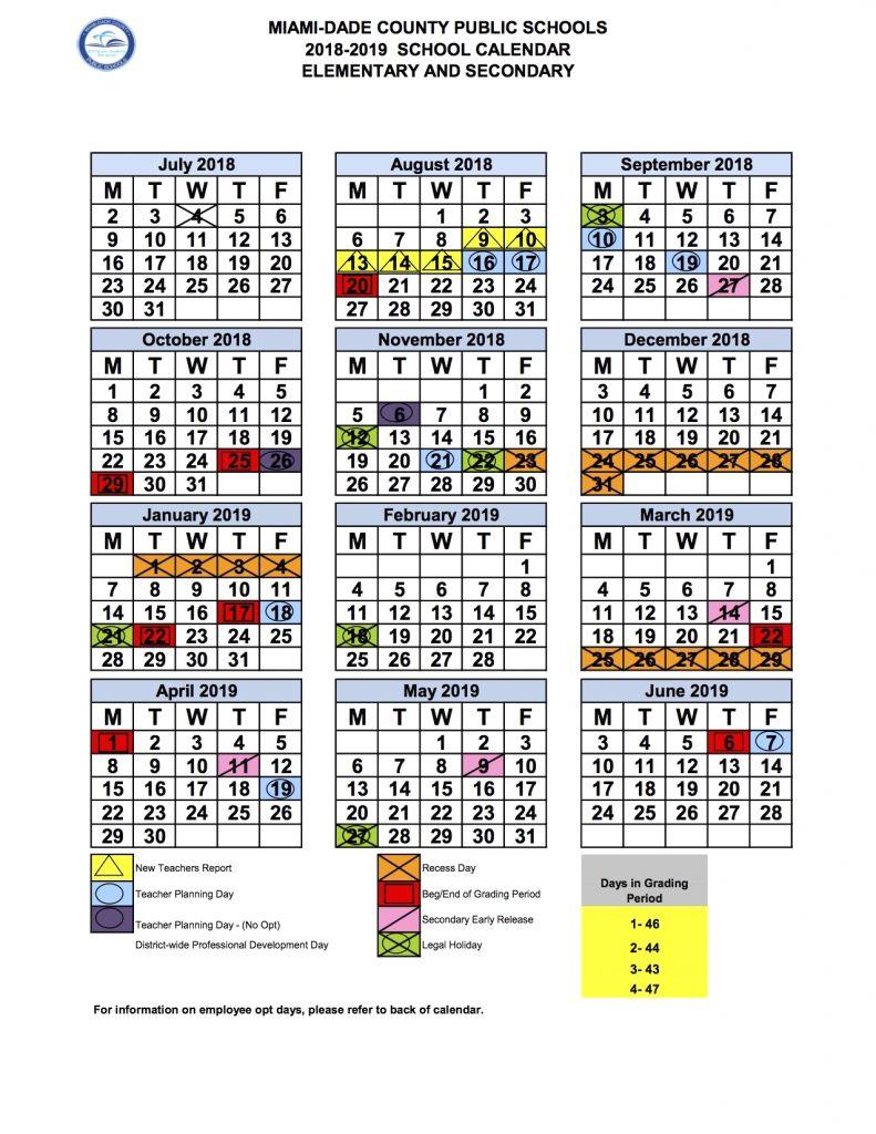 2020 And 2020 Miami Dade School Calendar Printable Inside Miami Dade Public School Calendar 2020 2021