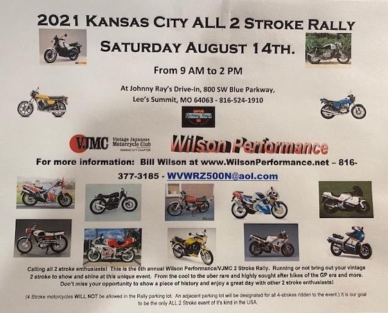 2021 All Kansas City 2 Stroke Rally | Vintage Japanese In 454 2021 Calendar