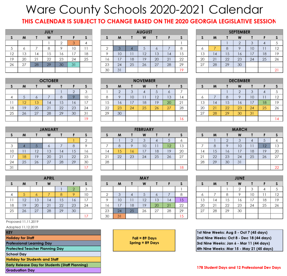 2021 Columbia County Florida Spring Break   Printable Throughout Davidson County School Calendar 2021